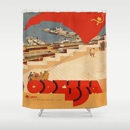 Vintage poster - Odessa Shower Curtain