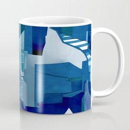greece santorini abstract illustration Coffee Mug