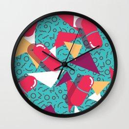 Pills Pattern 014 Wall Clock