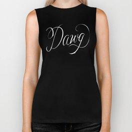 Dawg (Hip Hop Calligraphy II) Biker Tank