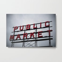 Public Market - Seattle Metal Print