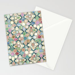 Muted Moroccan Mosaic Tiles Stationery Cards