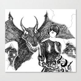 Vampyre [Digital Figure Illustration] Canvas Print