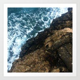 Sea Meets Land Art Print