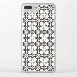 Stretching Cats Pattern Clear iPhone Case