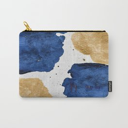 Gold and Navy Blue paint Carry-All Pouch