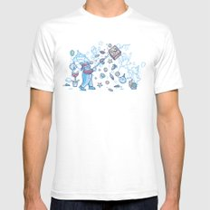Mario Party White Mens Fitted Tee SMALL