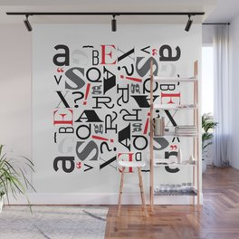 Rotational Symmetry Typography Wall Mural