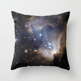 Stars, Nebula in Space Throw Pillow