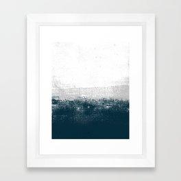 Ocean No. 1 - Minimal ocean sea ombre design  Framed Art Print