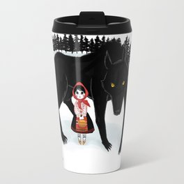 Little Red Riding Hood and the Big Bad Wolf Travel Mug