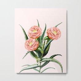 Blush Cactus || #society6 #decor #buyart Metal Print