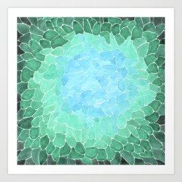 Abstract Sea Glass Art Print