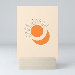 Sun and moon Mini Art Print