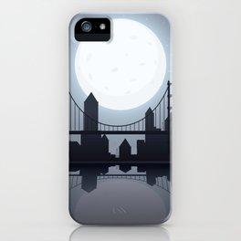 Full Moon Manhattan iPhone Case