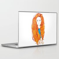 be brave Laptop & iPad Skins featuring Brave by FeliciaR