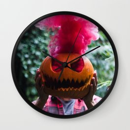 Holiday Hot Head :D Wall Clock