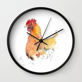 Watchful chicken Wall Clock