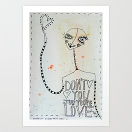 Don't you just Love... Love Art Print