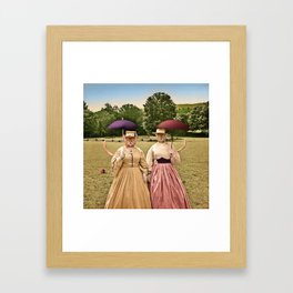 Two Pretty Kitties: Out for a Stroll Framed Art Print
