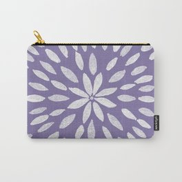 Mandala Flower #4 #UltraViolet #drawing #decor #art #society6 Carry-All Pouch
