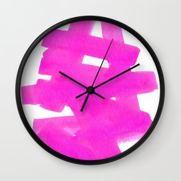 Superwatercolor Pink Wall Clock
