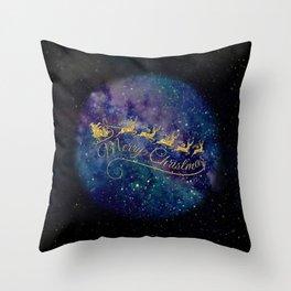 Santa Claus on Milky Way Throw Pillow