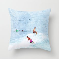 Surfing Time Throw Pillow