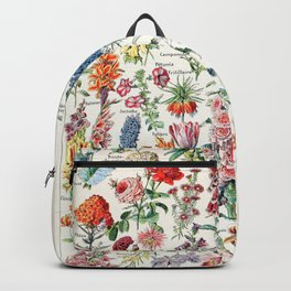Adolphe Millot - Fleurs pour tous - French vintage poster Backpack