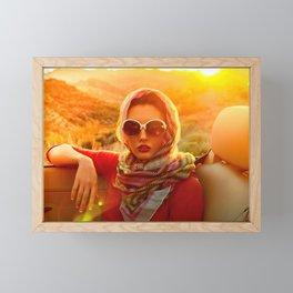 0647 Natasha's Apache Trail Summer Road Trip Framed Mini Art Print