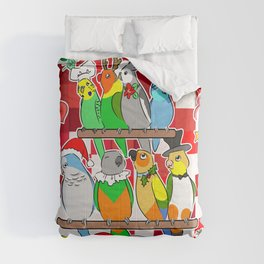 Parrot Christmas Holly Jolly Comforters