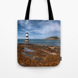 Penmon Point Lighthouse Tote Bag