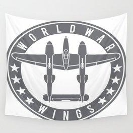 P-38 Lightning Logo  Wall Tapestry