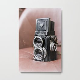 Rolleiflex baby 4x4 vintage film camera Metal Print