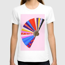 Beautiful Abstract chinese Fan T-shirt