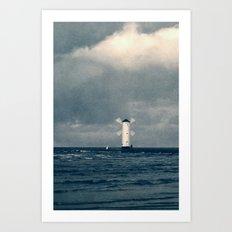 the white windmill Art Print