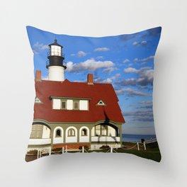 Portland Head Light 01 Throw Pillow