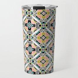 Bold hand drawn floral quilt. Travel Mug