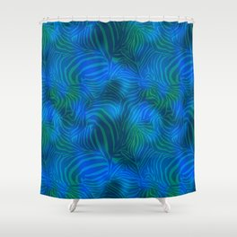 Zebra goes underwater Shower Curtain