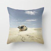 desert Throw Pillows featuring desert by Andrzej Siejeński