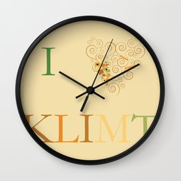 I heart Klimt Wall Clock