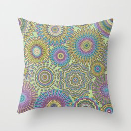 Kaleidoscopic-Jardin colorway Throw Pillow