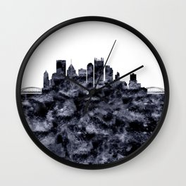Pittsburgh Skyline Pennsylvania Wall Clock