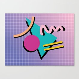 Memphis Pattern 10 - 90s - Retro Canvas Print