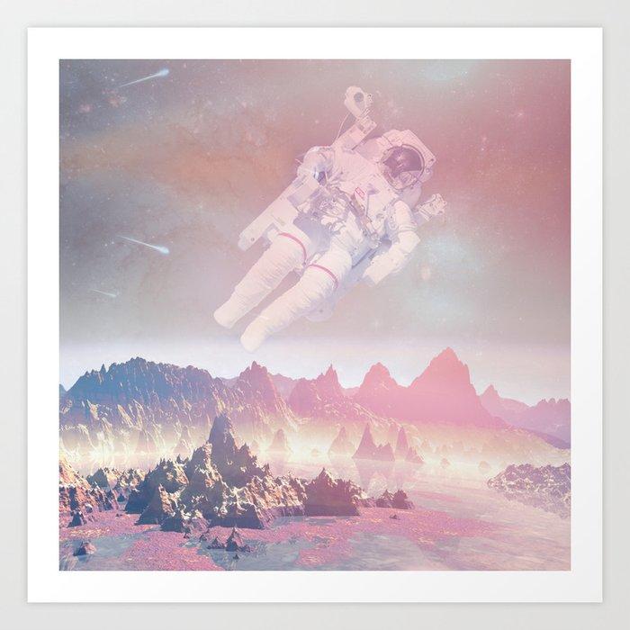 Cosmic Landing Art Print