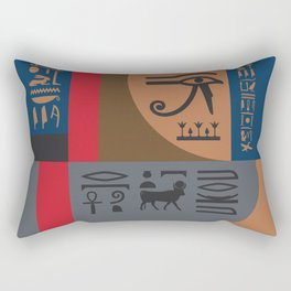 Egyptian Symbols Art Deco Composition #2 Rectangular Pillow