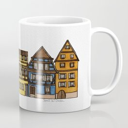 Colorful Riquewihr Houses Side-by-Side Coffee Mug
