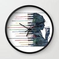 piano Wall Clocks featuring Piano by Veronika Neto