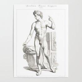 Human Anatomy Art Print MEN BODY FRONT Vintage Anatomy, doctor medical art, Antique Book Plate, Medi Poster