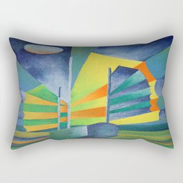 Junk By The Light Of The Silvery Moon Rectangular Pillow
